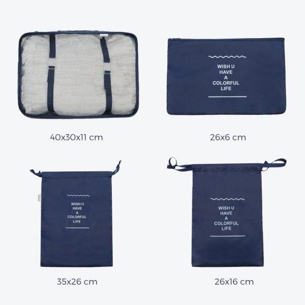 Organizador de viaje – Set de 8 cubos de equipaje