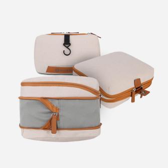 旅行セット:パッキングキューブ 2個&ウォッシュポーチ1個