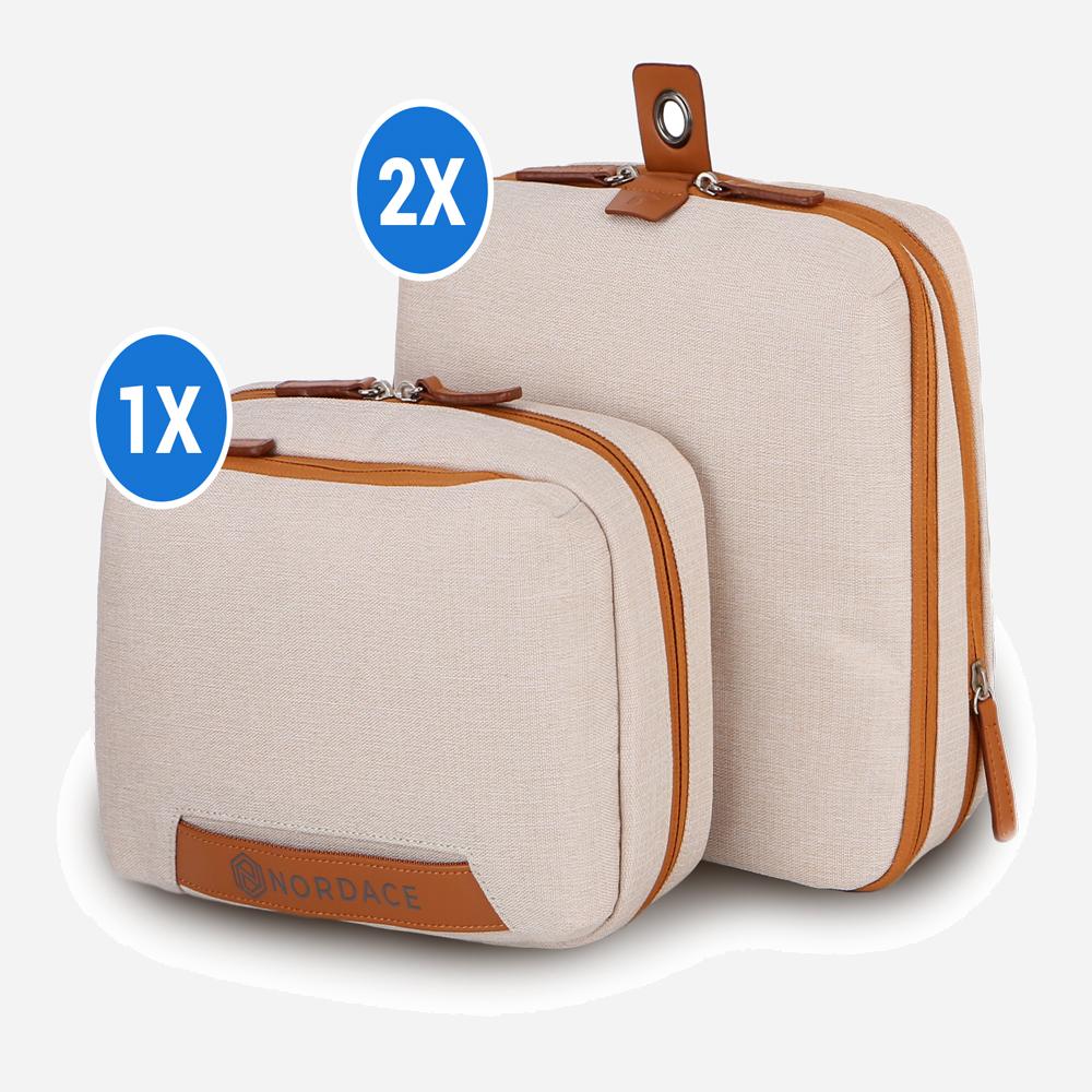 Travel Bundle: 2X Packing Cubes & 1X Wash Pouch