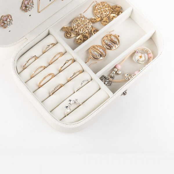 Double Layer Compact Travel Jewelry Box